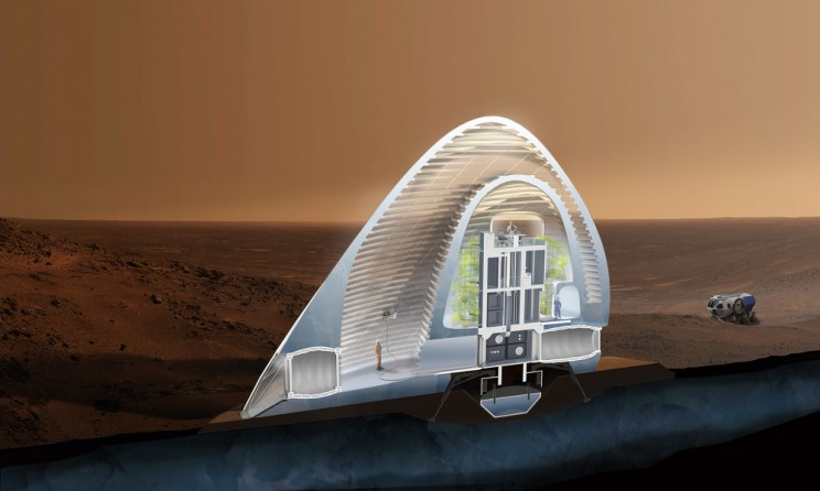 Mars Ice House: a prize-winning design for the 3D Printed Habitat Challenge for Mars.