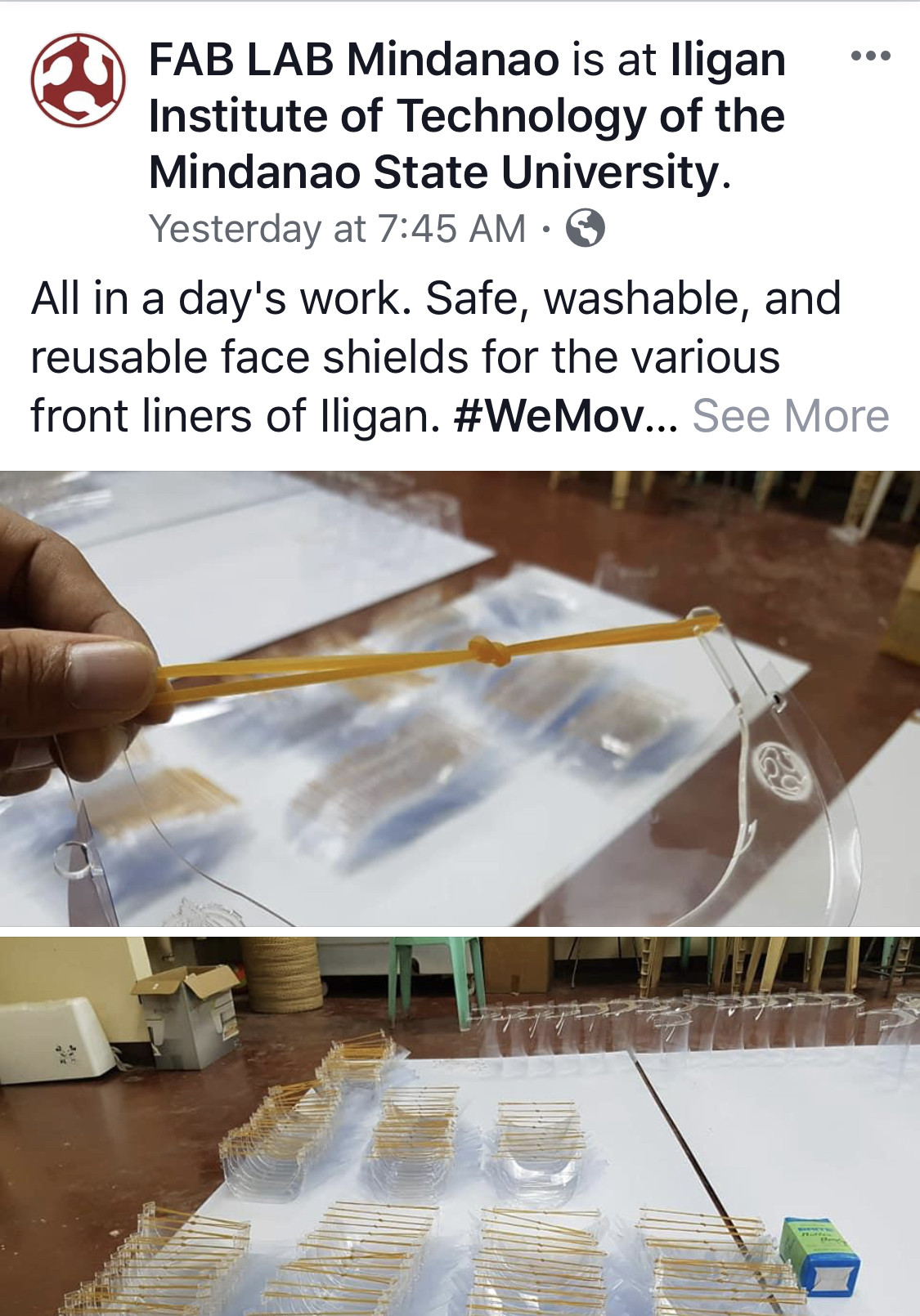 Fab Lab 3D Printed Masks